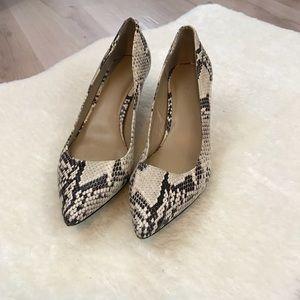 ♻️ EUC Ann Taylor Snakeskin Heels - 8M